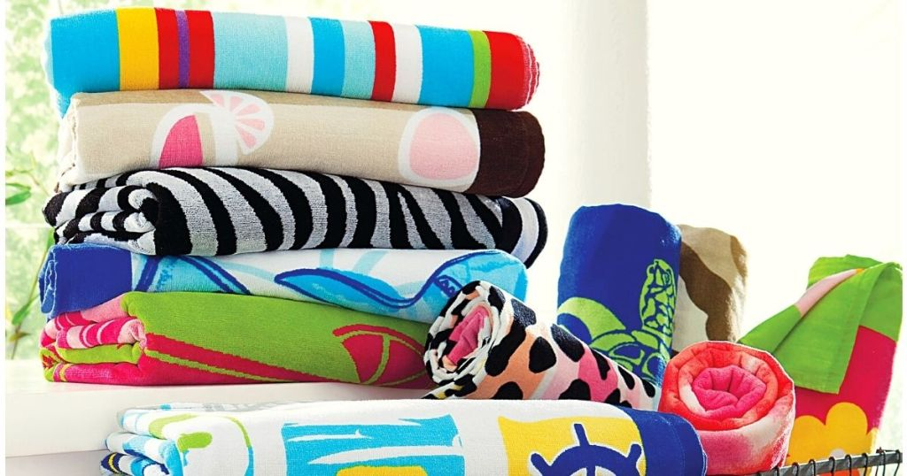 collection of belk beach towels