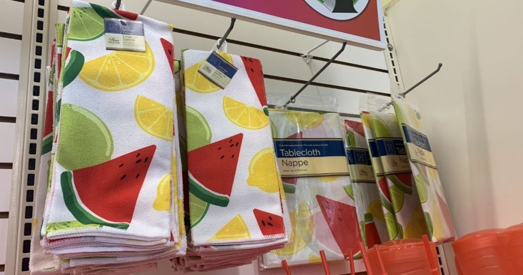 summer themed towels