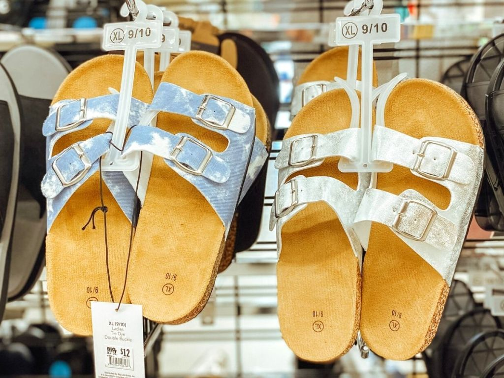 Two birkenstock dupes at the store
