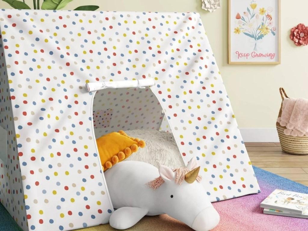 Pillowfort A-Frame Multi Dot Tent