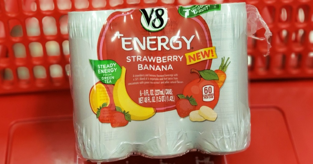 V8 + Energy Strawberry Banana Drinks