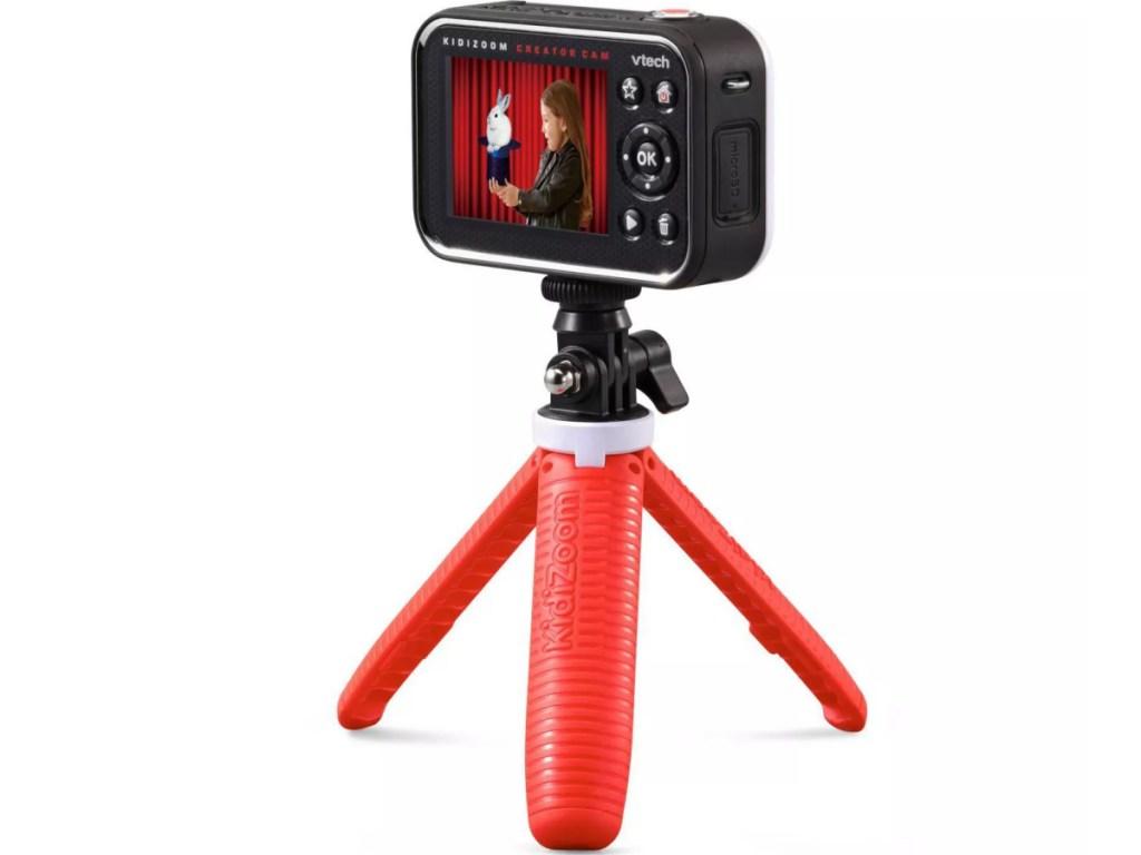 kids camera on tripod
