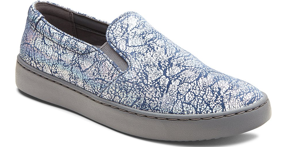 blue, silver and grey sneaker