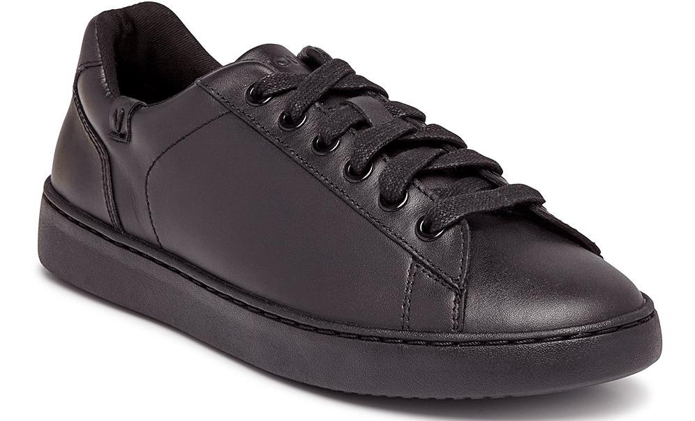 solid black sneaker