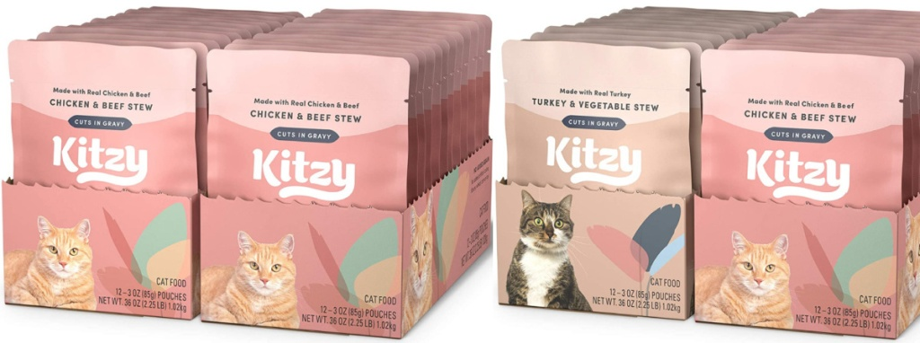 cat food packets