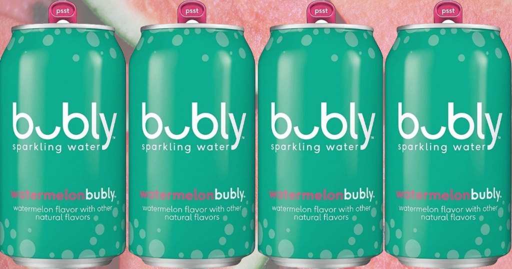 four cans of bubly watermelon
