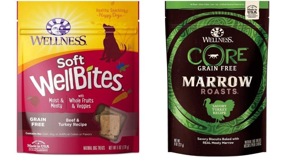 Wellness soft wellbites treats and Wellness Core marrow roasts