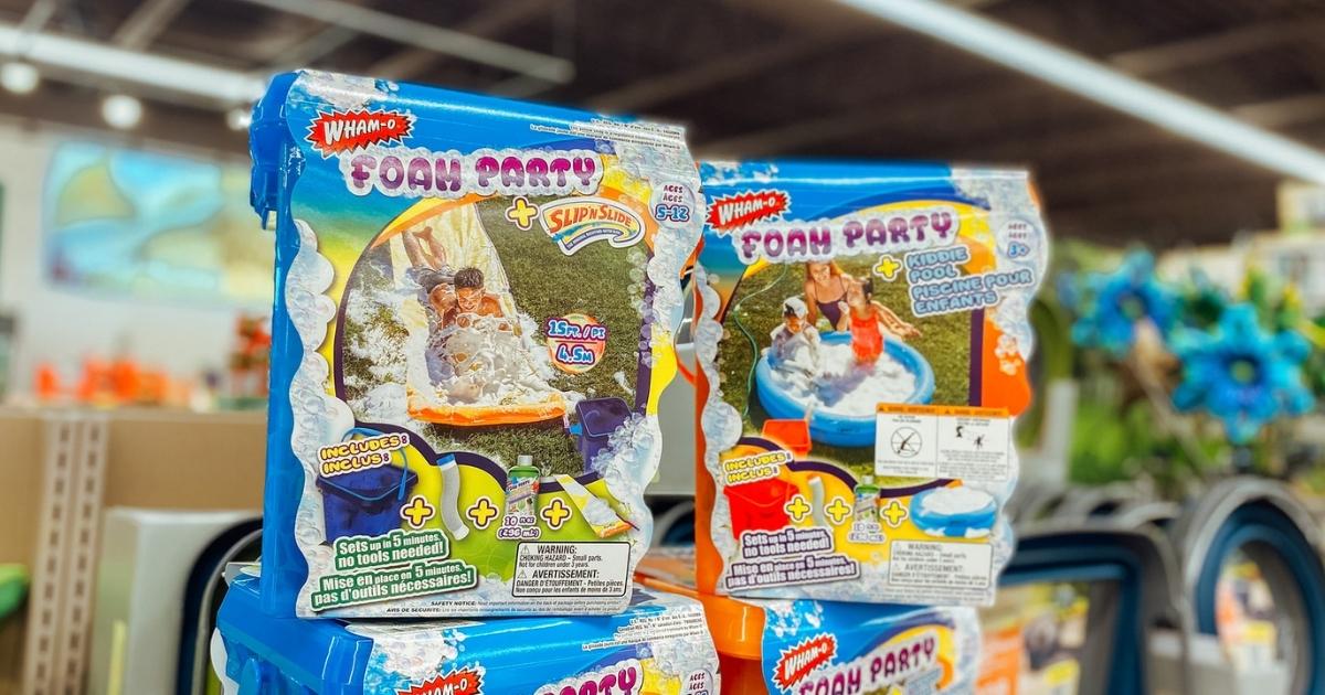 Wham-O Foam Party at ALDI