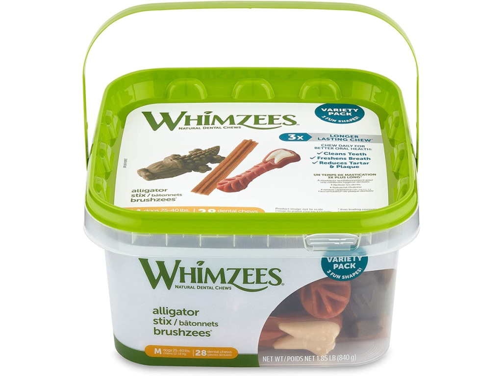 tub of whimzhee dog treats