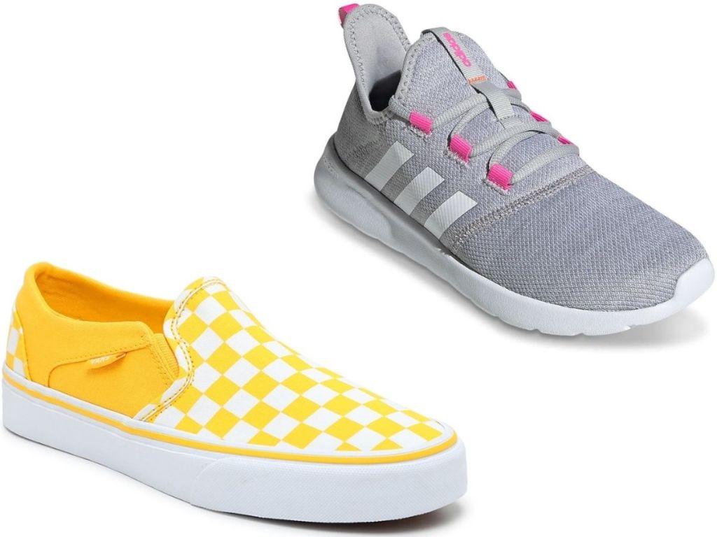 Women's Vans and Adidas Sneakers