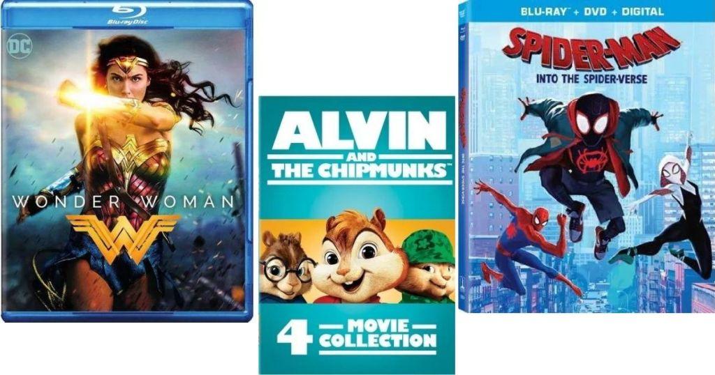 Wonder Woman, Alvin and Spider-man Movies