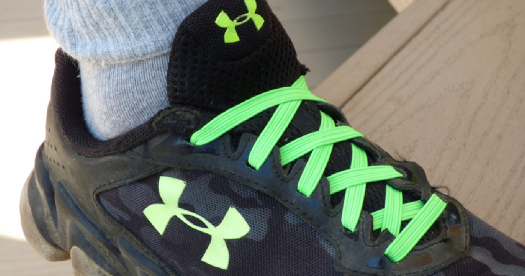 green expand shoelaces