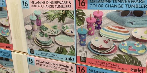Zak! 16-Piece Melamine Dinnerware w/ Color Change Tumblers Only $14.91 at Sam's Club (Regularly $25)