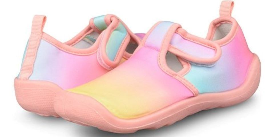 pair of kids water shoes