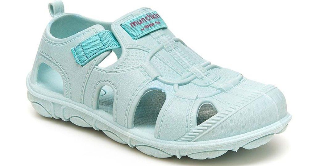 light blue kids water shoe
