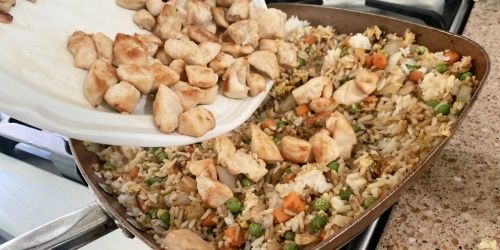Chicken Fried Rice is an Easy to Make One-Skillet Dinner!