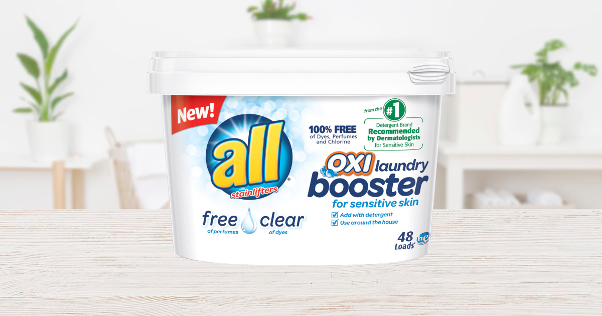 all OXI Laundry Booster for Sensitive Skin