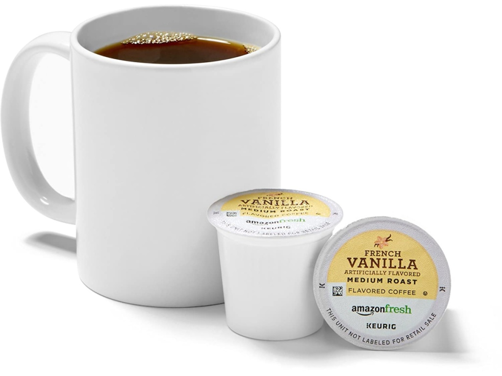 Amazon coffee pods and coffee cup