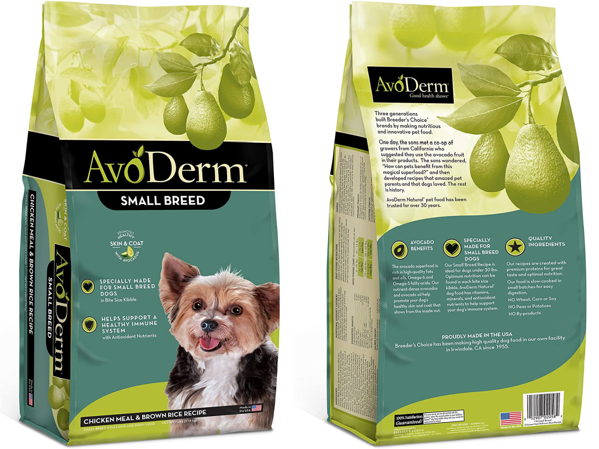avoderm small dog food