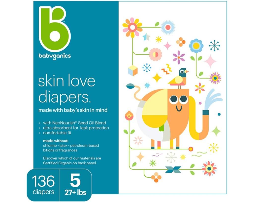babyganics size 5 diapers box