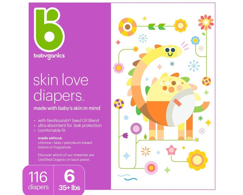 babyganics size 6 diapers
