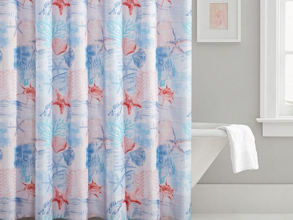 bathroom coastal curtains