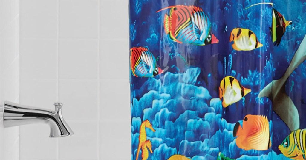 bathroom fish curtain