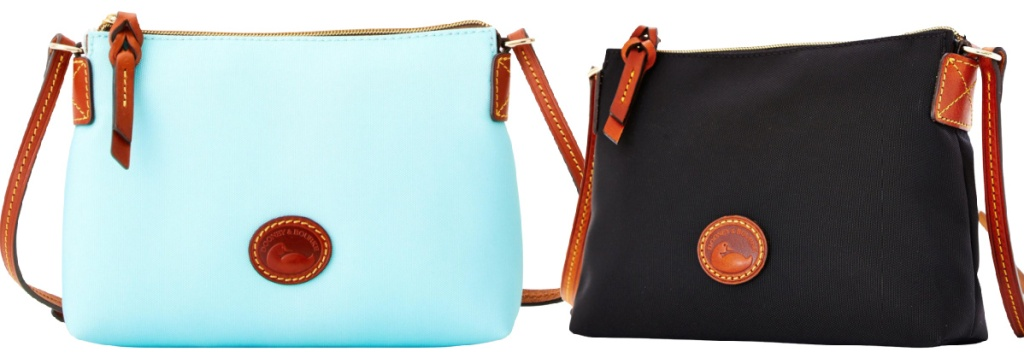 blue and black poochette bags