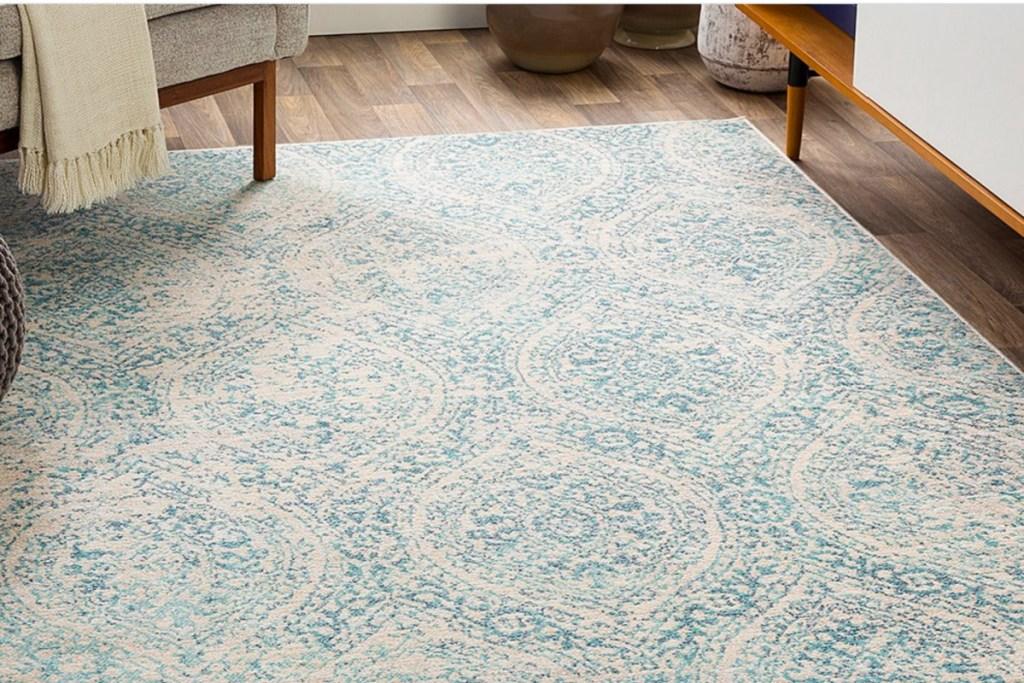 blue medallion rug
