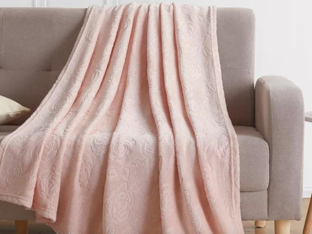 blush throw blanket