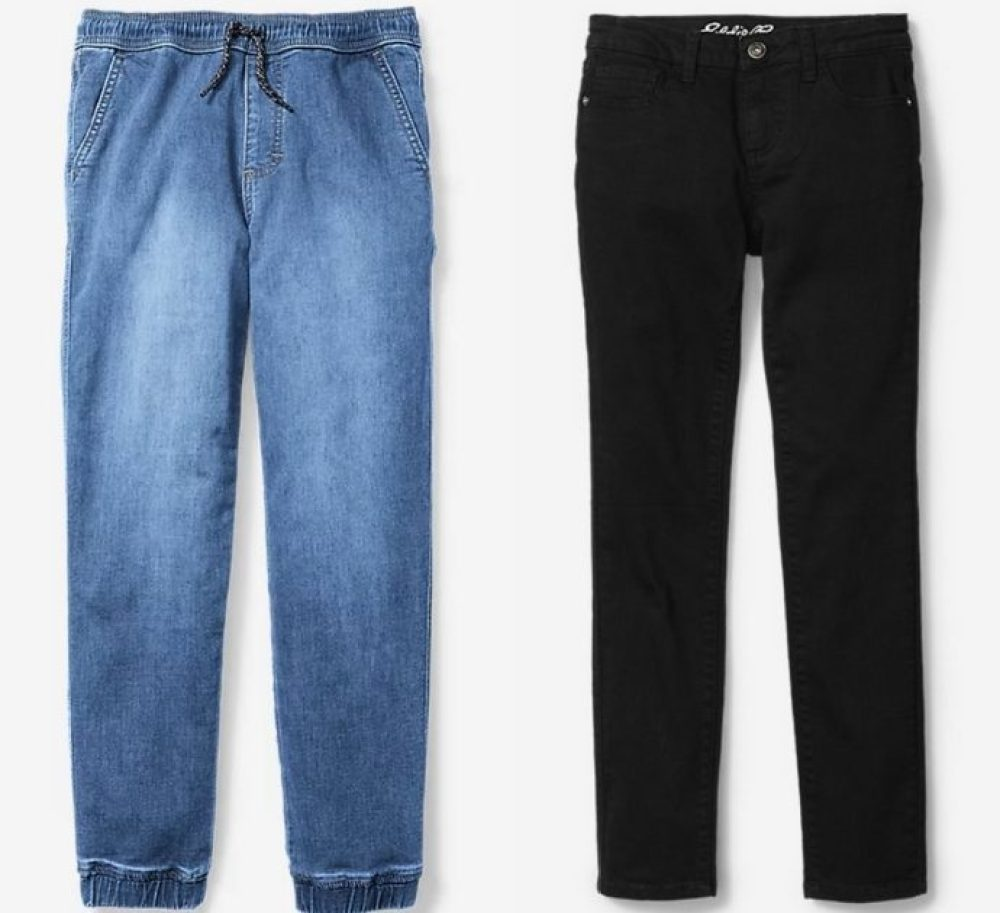 boys' and girls' pants from Eddie Bauer