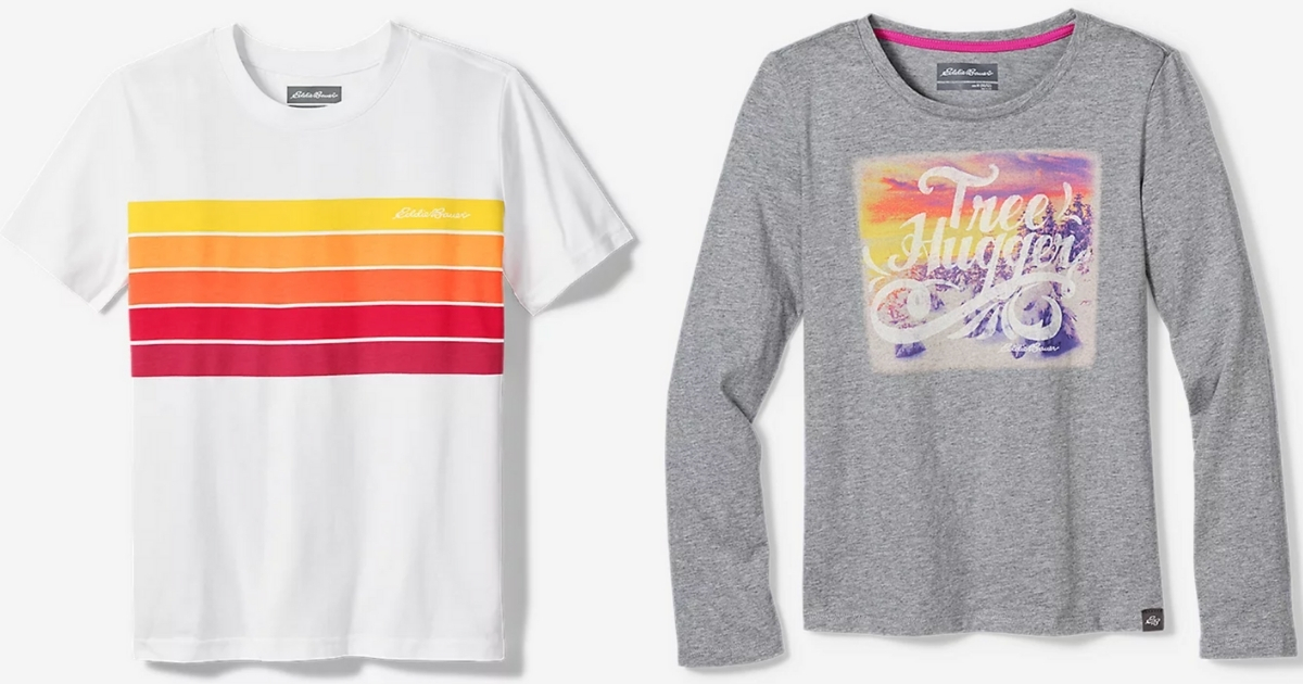 boys' and girls' shirts from Eddie Bauer