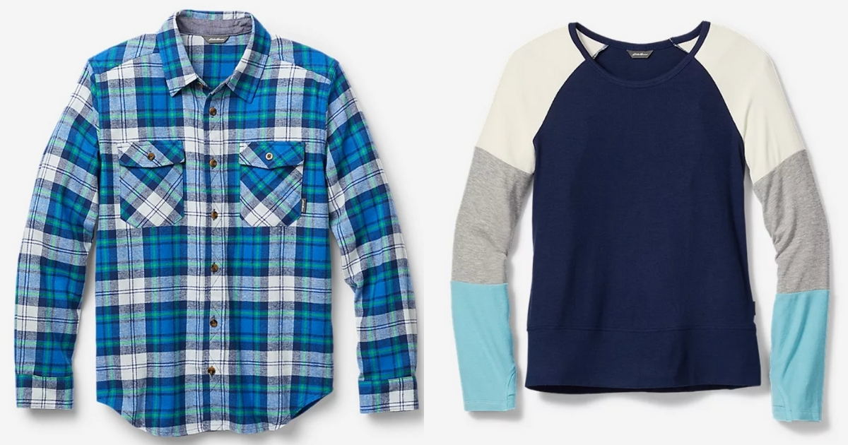 boys' and girls' tops from Eddie Bauer