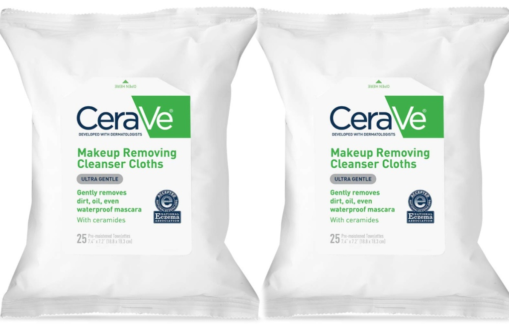 2 cerave cleansing clothes