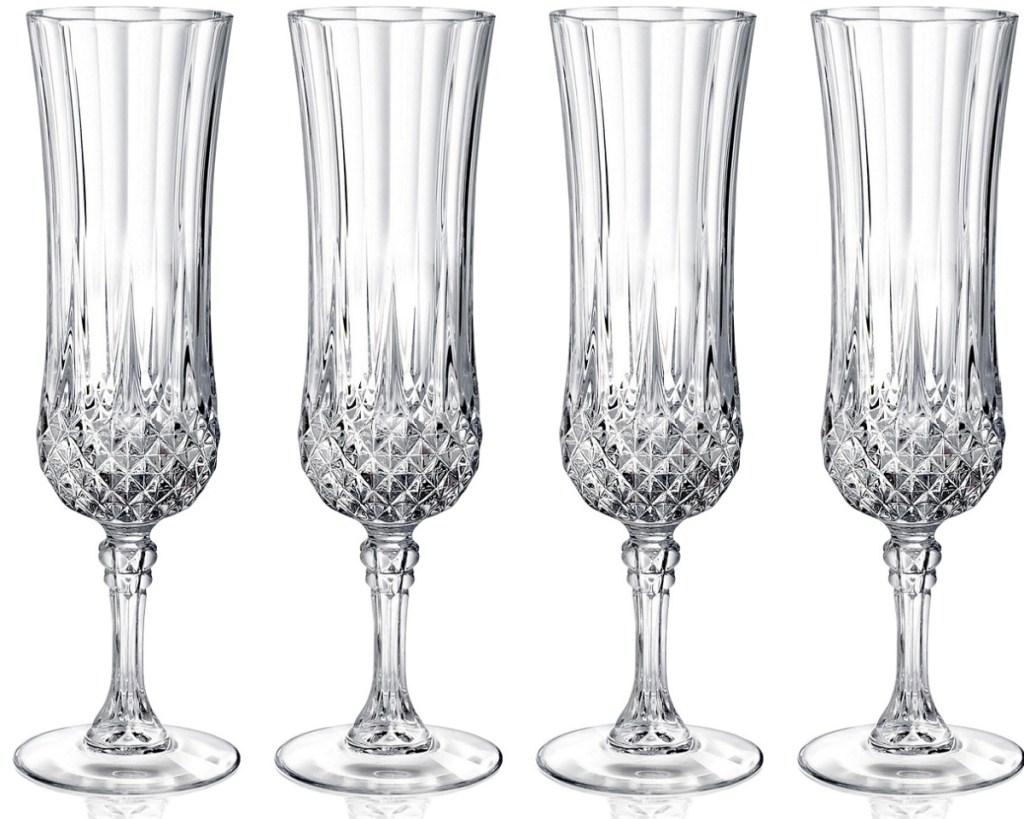 set of champagne flutes