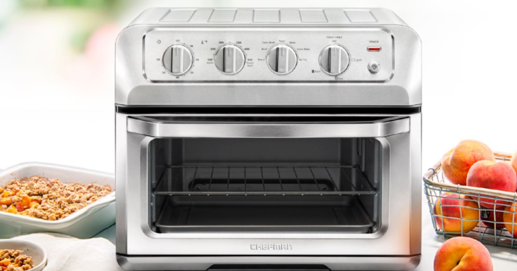 large toaster oven on counter