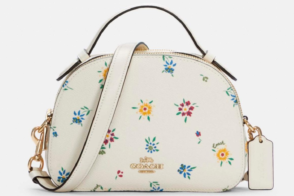 coach flower print satchel