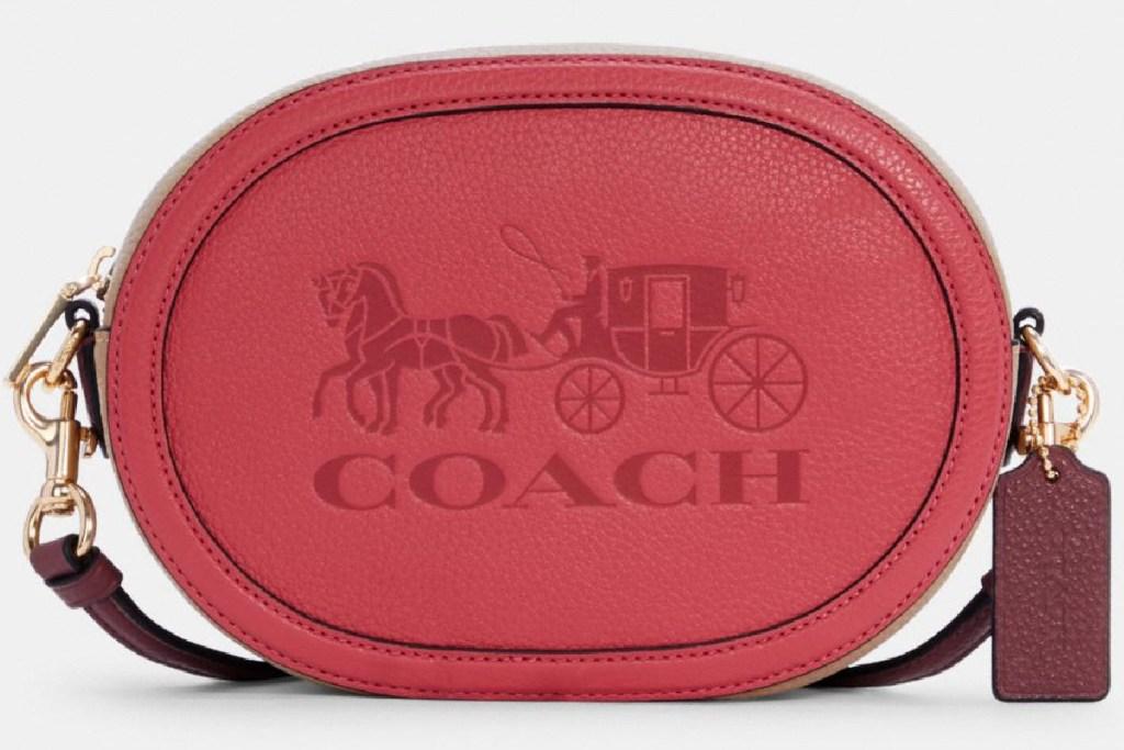 coach round camera bag