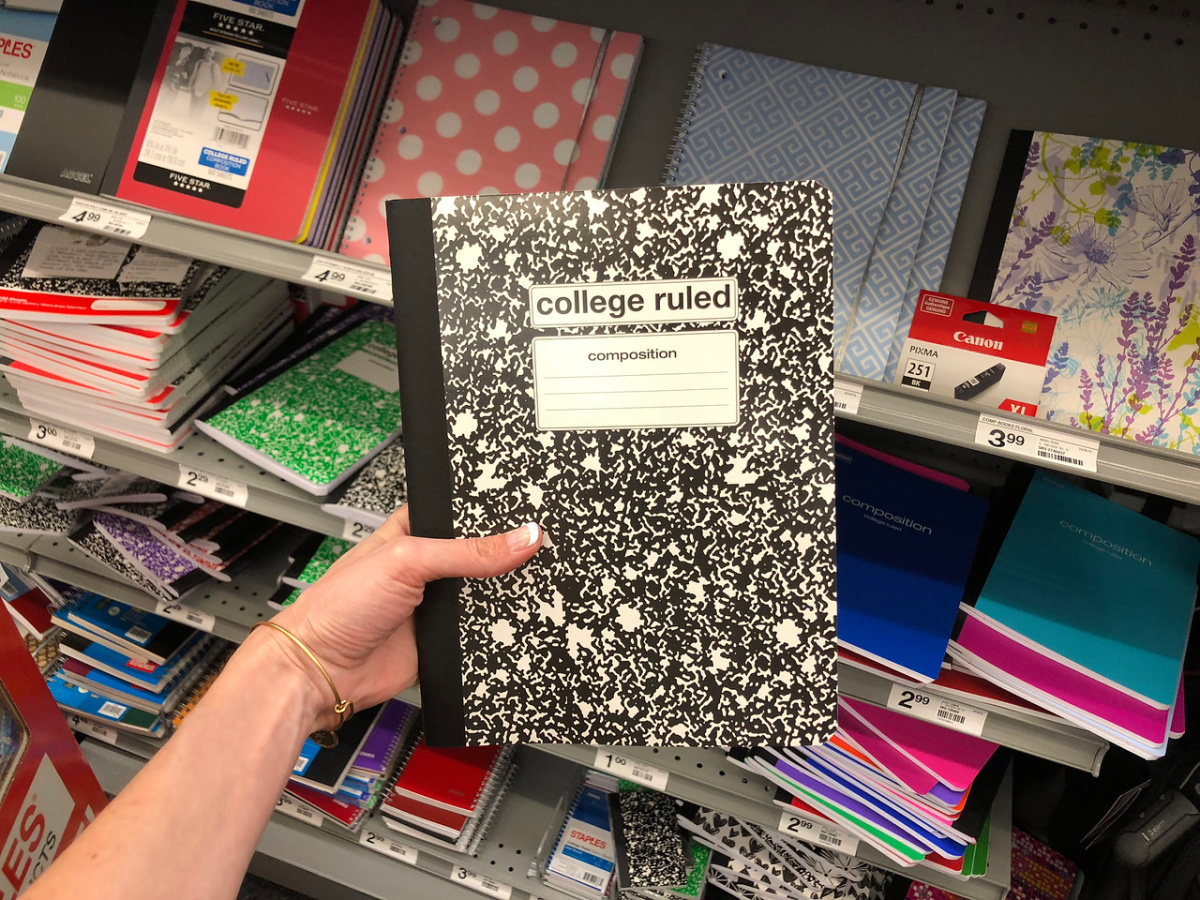 Tru red composition notebook