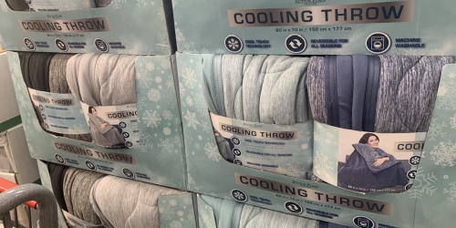 Reversible Cooling Throw Blanket Only $19.99 at Costco
