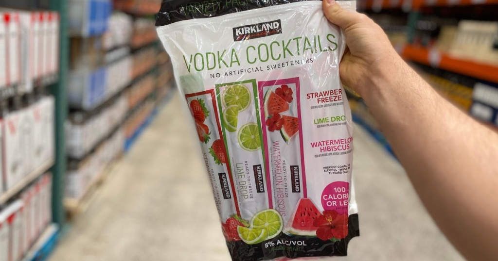 costco adult ice pops in hand in store