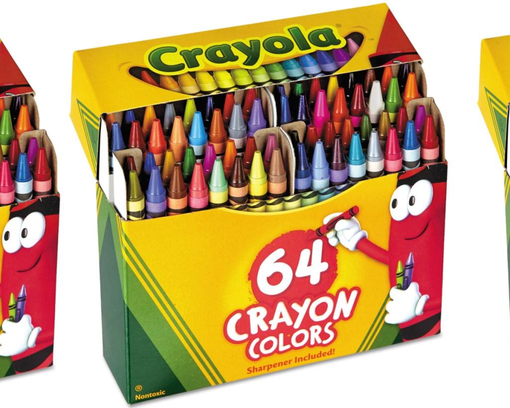 box of crayola 64 count crayons