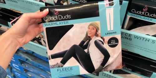 Cuddl Duds Women's Fleece Leggings Only $9.99 on Zulily (Regularly $30)
