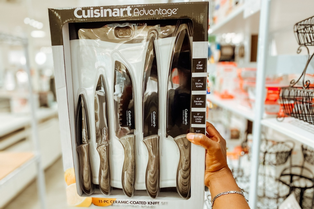 cuisinart knife set in store at JCP