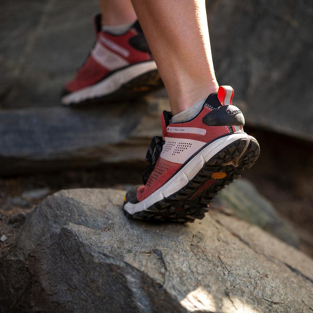 woman wearing Danner hiking shoes