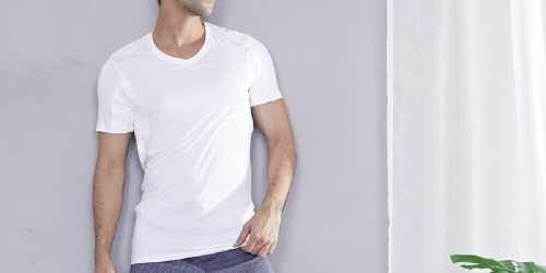 Men's Bamboo V-Neck Tees 2-Pack Only $23.99 on Amazon (Regularly $33)