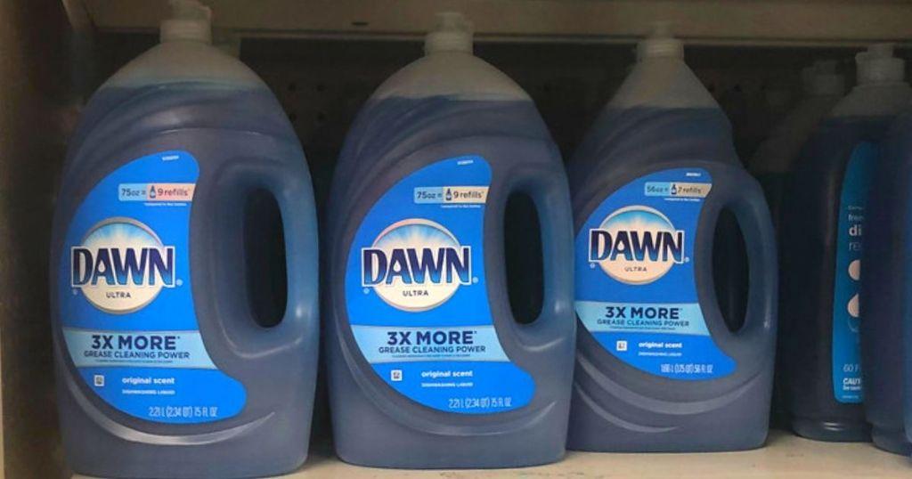 dawn 75oz bottles on shelf