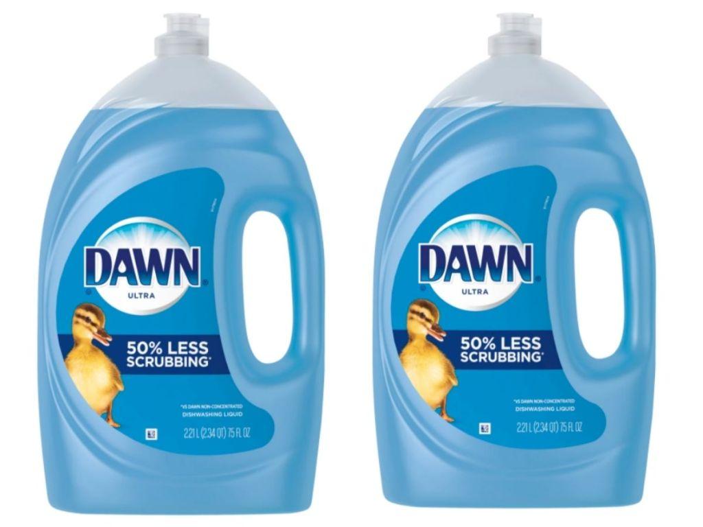 two 75oz jugs of Dawn