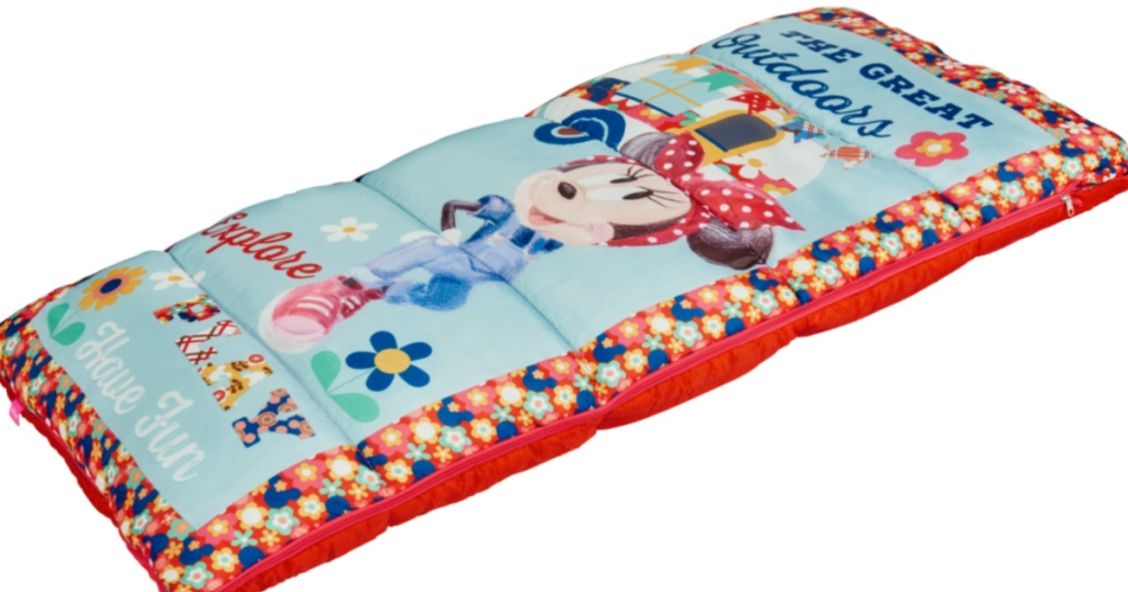 stock image of a minnie mouse sleeping bag