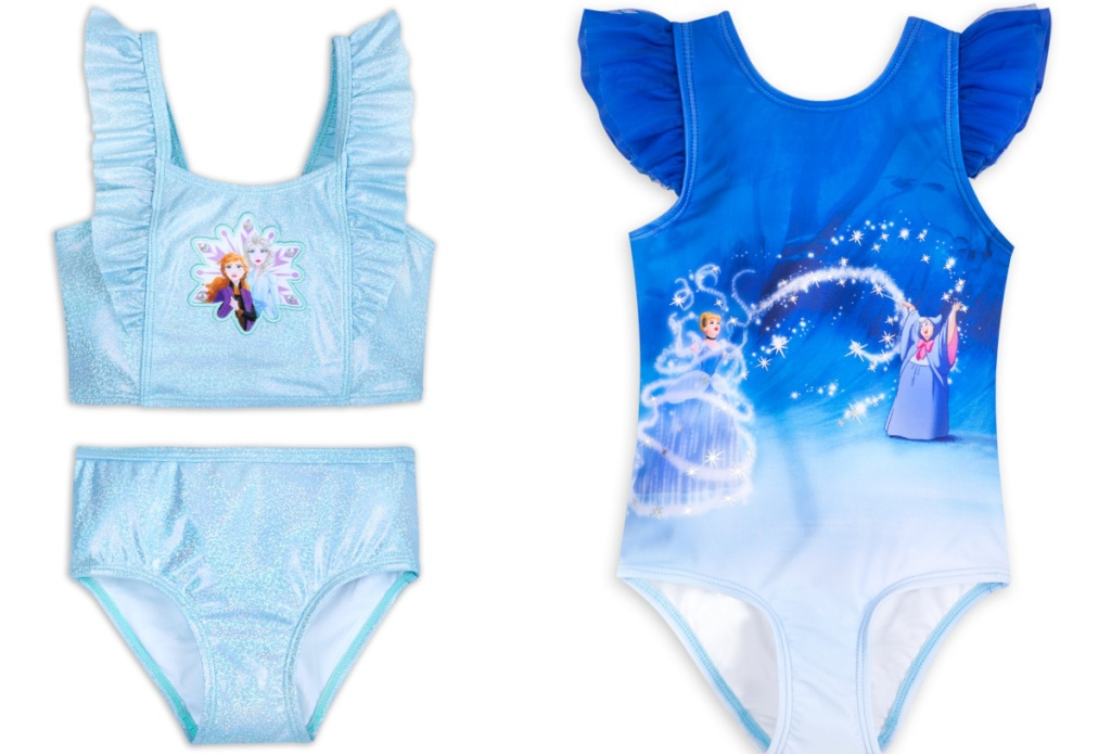 Frozen and Cinderella girls swimsuits